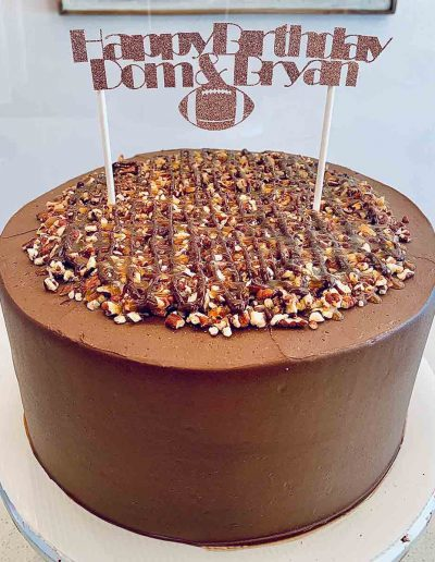 birthday chocolate cake custom