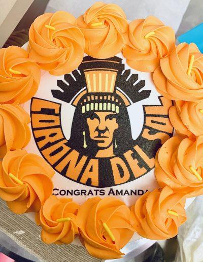 corona del sol graduation cake