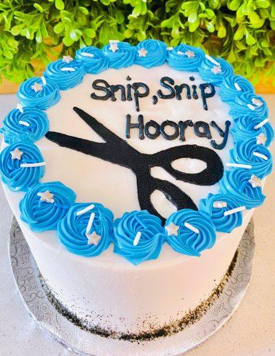snip snip hooray cake