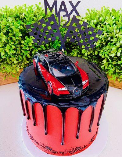 racecar custom cake