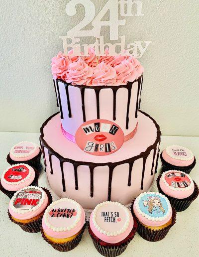 24th birthday custom cake
