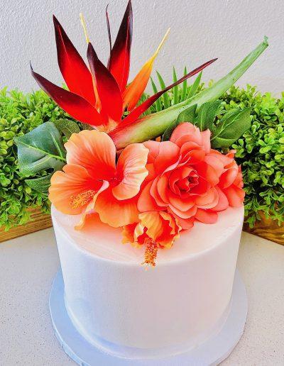 bird of paradise custom cake